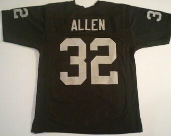 211ce586 Oakland Raiders Marcus Allen UNSIGNED CUSTOM Made Black Jersey