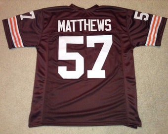 sports shoes 6c0dc e6fb4 Cleveland Browns Jim Brown UNSIGNED CUSTOM Made Brown Jersey ...