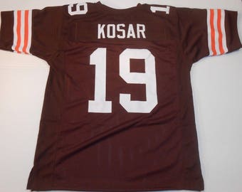 Cleveland Browns Bernie Kosar UNSIGNED CUSTOM Made Brown Jersey