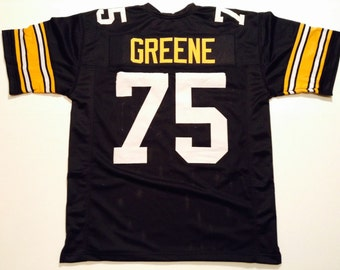 b3877d722 Pittsburgh Steelers Joe Greene UNSIGNED CUSTOM Made Black Jersey