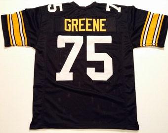 de7262339 Pittsburgh Steelers Joe Greene UNSIGNED CUSTOM Made Black Jersey