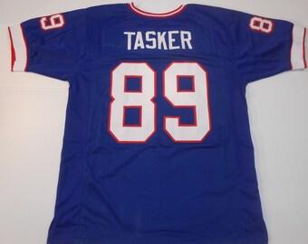 Buffalo Bills Steve Tasker UNSIGNED CUSTOM Made Blue Jersey d240d6dbb
