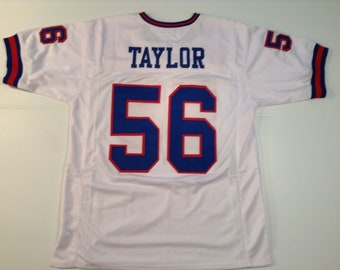 10619cd9713 New York Giants Lawrence Taylor UNSIGNED CUSTOM Made White Jersey