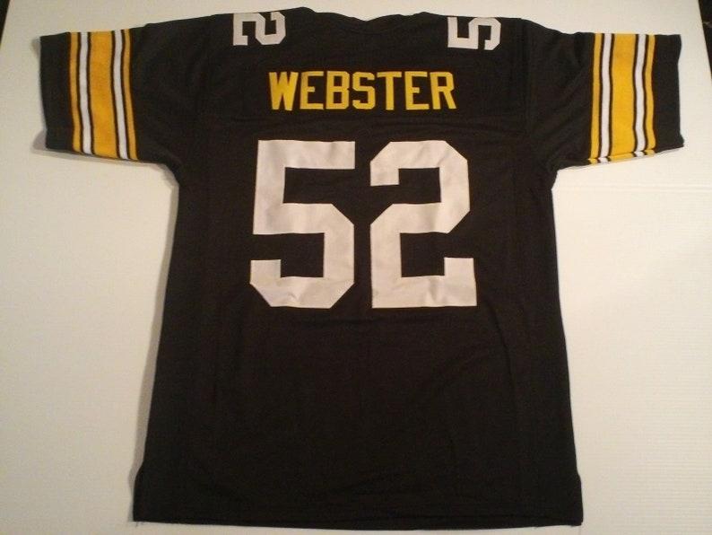 6865b4dee Pittsburgh Steelers Mike Webster UNSIGNED CUSTOM Made Black | Etsy