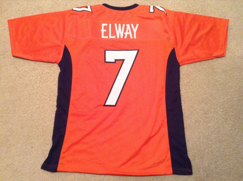 meet ffcf1 feedd Denver Broncos John Elway UNSIGNED CUSTOM Made Orange Jersey