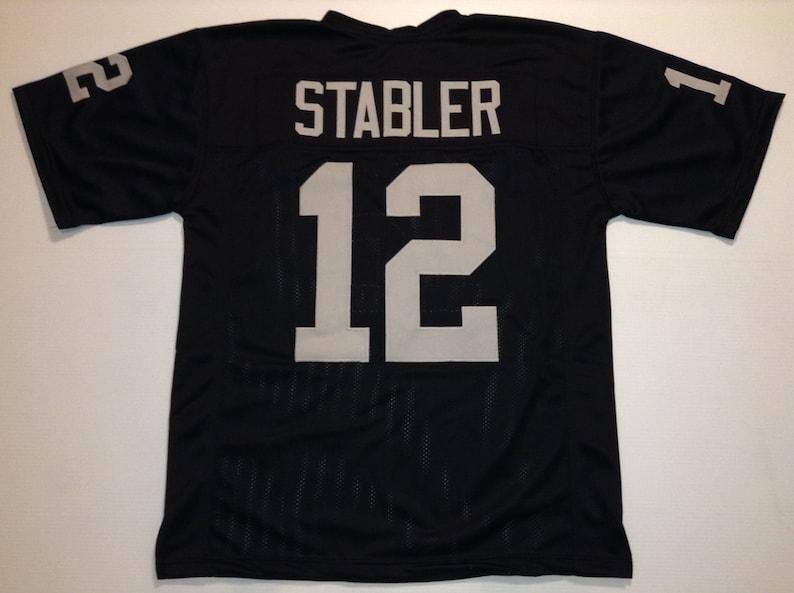 buy popular 8b414 a5ef3 Oakland Raiders Ken Stabler UNSIGNED CUSTOM Made Black Jersey
