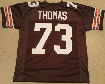 Cleveland Browns Joe Thomas  UNSIGNED CUSTOM Made Brown Jersey