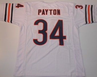 Chicago Bears Walter Payton UNSIGNED CUSTOM Made White Jersey
