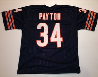 Chicago Bears Walter Payton UNSIGNED CUSTOM Made Blue Jersey