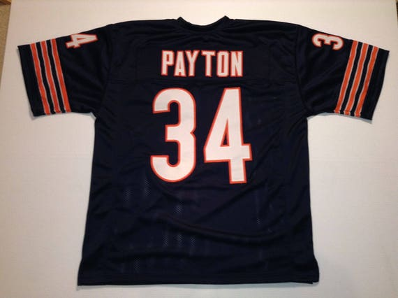 buy popular 8163b 9ba33 Chicago Bears Walter Payton UNSIGNED CUSTOM Made Blue Jersey
