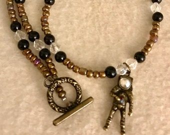 Crystal Astronaut Necklace