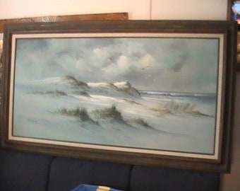 Seascape painting on canvas 24x48