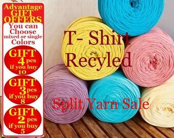 T shirt Yarn, 5.5-11-22 yards, 5-10-20 meters yarn, Recyled Fabryc yarn, home textile yarn, crochet yarn, basket yarn, fabric yarn, bag yarn