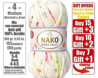9e2b1a3bd7 NAKO Elit Baby Muare nako yarn Acrylic yarn Baby Yarn soft