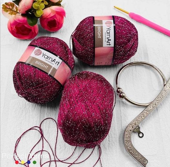 accessories yarn 2 sport crochet Bedspread metalic Yarnart bright lace yarn Cross Stitch Glitter Sport yarn glitzy yarn
