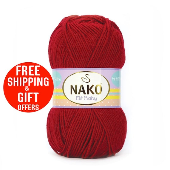 anti allergenic yarn soft yarn NAKO elit baby premium acrilic yarn baby accessories baby sock yarn Baby Yarn acrilic yarn baby hat