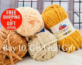 Dolphin Yarn, super soft yarns, Himalaya Dolphin baby, blanket yarn, velour yarn, blanket crochet, amigurumi, fluffy yarn, Turkish yarn 2