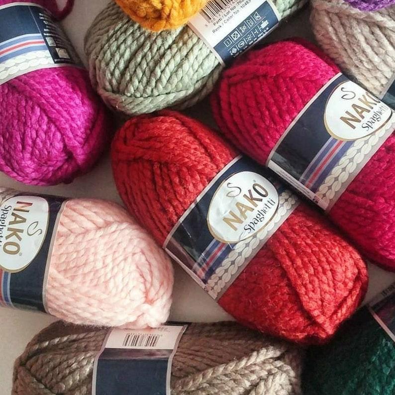 Nako Spaghetti Knitting Yarn Crochet Yarn Winter Yarn Wool Etsy
