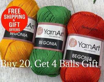 yarnart begonia, %100 mercerized, cotton yarn, Crochet yarn, knitting yarn, , bikini pattern, amigurumi yarn, summer yarn,