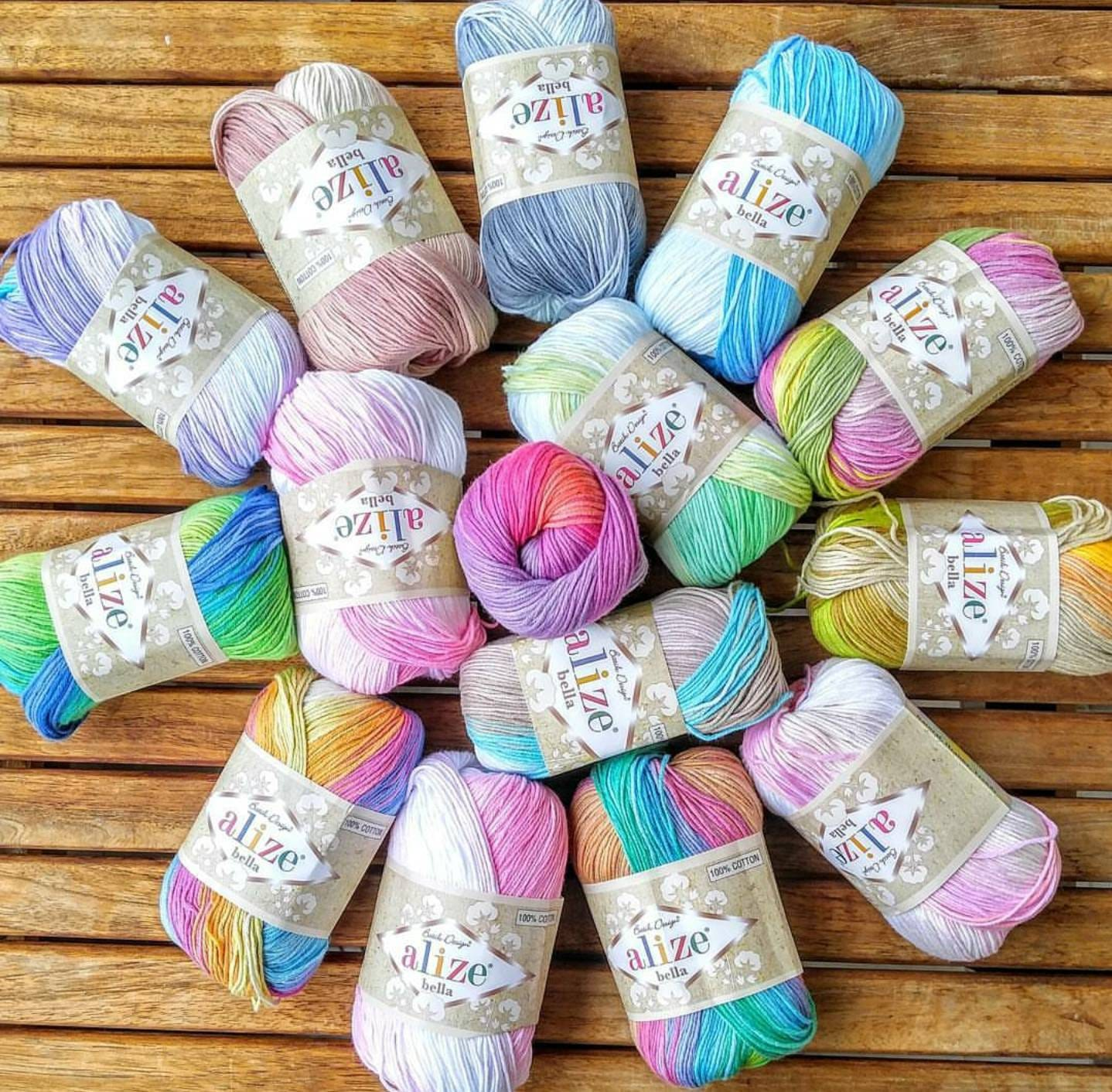 Alize Bella Batik %100 Cotton Yarn Crochet Yarn Knitting