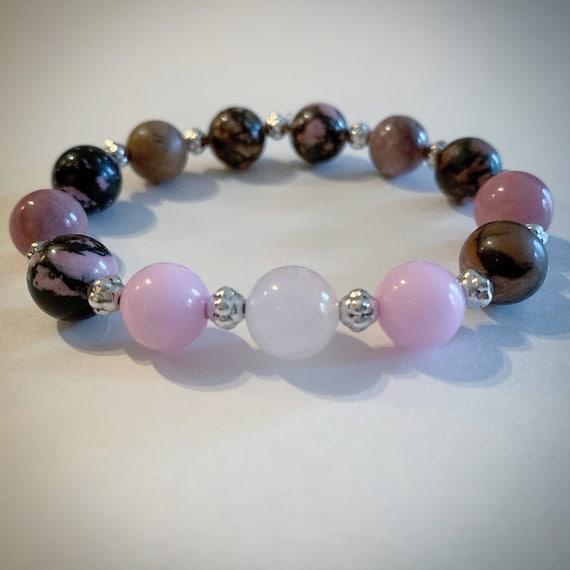 Rose quartz gemstone bracelet Jasper gemstone bracelet Jade gemstone bracelet Love bracelet Harmony bracelet Happiness bracelet