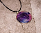 It GLOWS!! Hand-Painted Resin Pendant Necklace