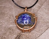Hand-Painted Resin Pendant Necklace