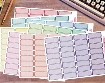 Functional Glitter Quarter boxes, Functional Planner Stickers, Basic Planner Stickers