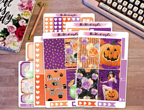 Big Happy Planner Weekly Kit   Witches Broom, Big Happy Planner Weekly Kit, Halloween Weekly Kit by Etsy