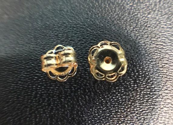 Gold Earrings Backs 14k Yellow Gold Earring Backs 031 Etsy