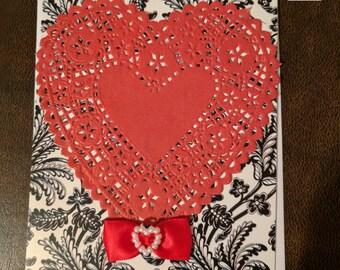 Large Heart Valentine's / Anniversary Card