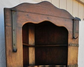 Imperial Corner Cabinet, Monterey Furniture style, original finish