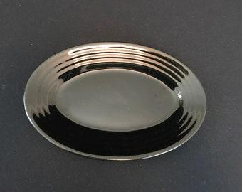 Bauer Oval Platter, Black