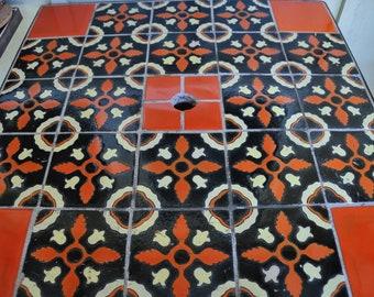 Catalina Patio Tile Table with umbrella hole