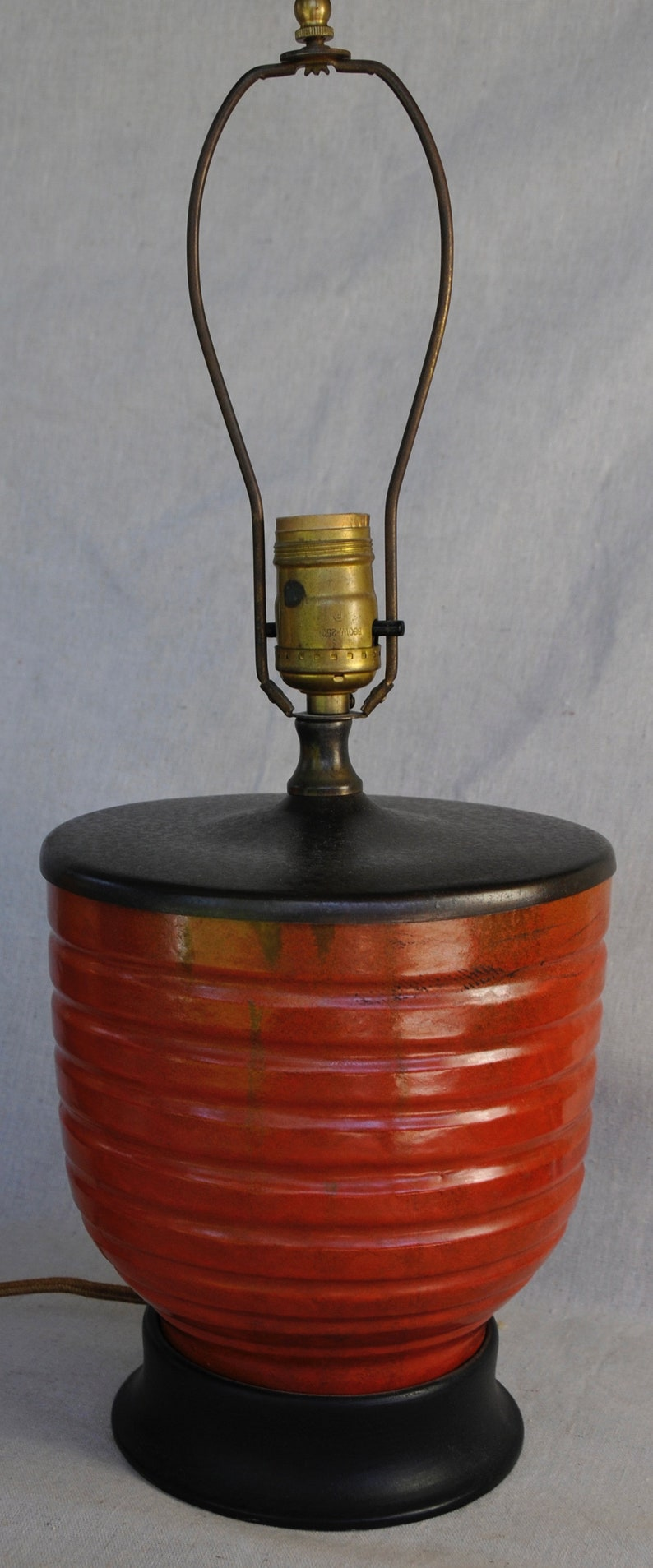 Catalina Ringed Flowerpot Lamp Toyon Orange image 0