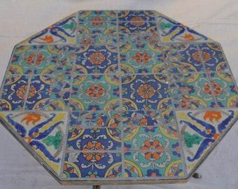 Large Hispano Moresque Tile Coffee Table