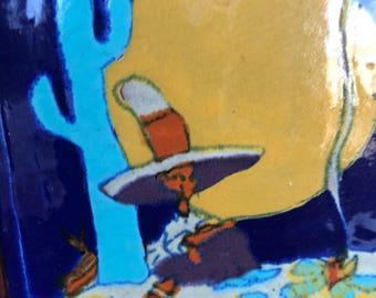 """Rare Tudor Scenic 6"""" Desert Tile"""