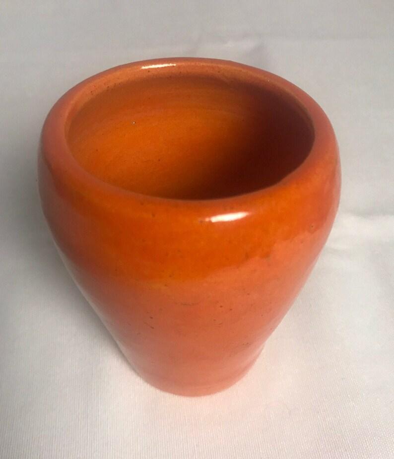 San Jose Mission Vase Orange image 0