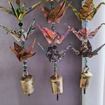 Oragimi Lucky Cranes Washi Collection | Positive Energy Charm  | indoor wind chime | Fung Shui Room Charm