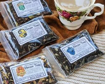 Hogwarts House Dessert Teas | Harry Potter Inspired Wizards Tea Sets | Magic Tea| Potions |