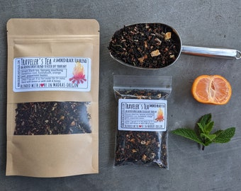 Traveler's Tea | Smoked Black Tea  | Lapsang Souchong | Coffee alternative | Travel Well Magical Tea