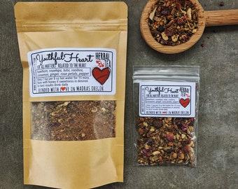 Youthful Heart Herbal Tea | Tulsi Tea | tea for heart health & magic tea for empathy and heartbreak