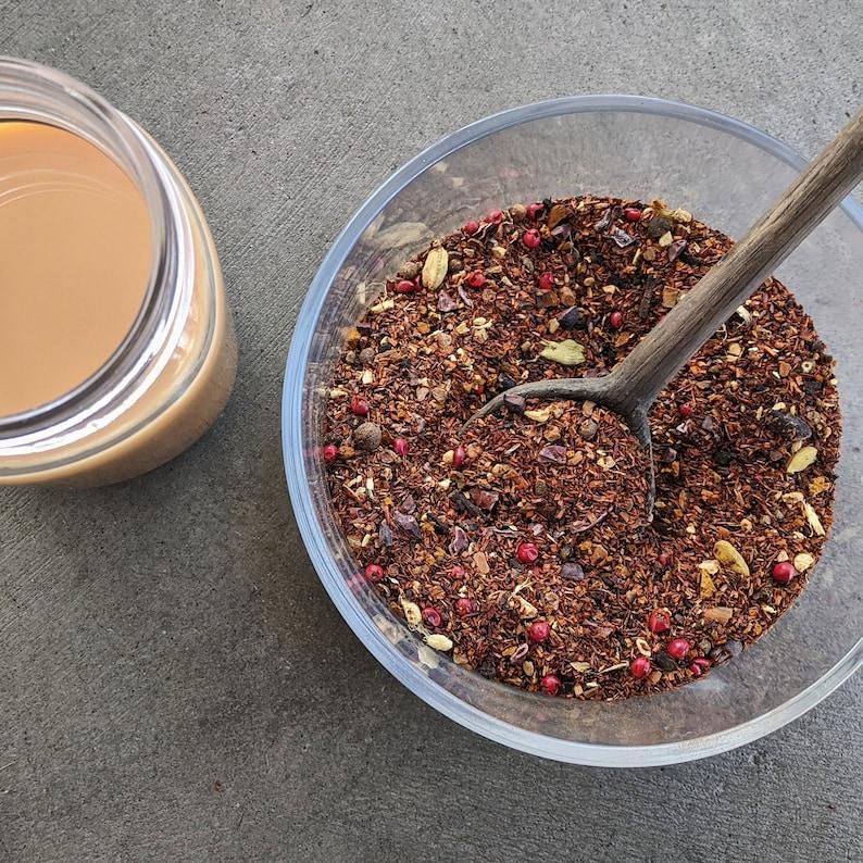 Spicy Rooibos Chai Tea  Caffeine Free chai tea   red rooibos image 0