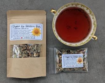 Summer Solstice Celebration Tea | Under the Solstice Sun Herbal Tea Blend | seasonal loose leaf tea | Litha Tea