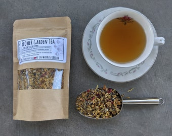 Flower Garden Herbal Tea Blend | Chamomile Tea | loose leaf tea blends | relaxing herbal tea | bulk herbal tea naturally caffeine free
