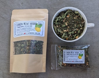 Lemon Mint Herbal Tea | herbal tea blends naturally caffeine free