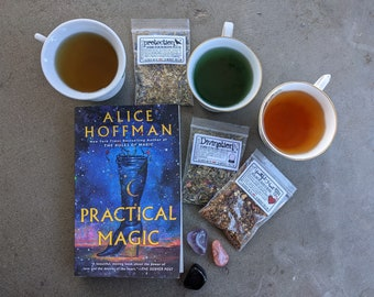 Witches' Tea Sampler | Magical Teas & Potions | heartache | protection | divination | always choose courage | cunning | wisdom | samhain