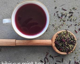 Hibiscus Mint Herbal Tea | herbal tea blends | Summertime Cooling Tea