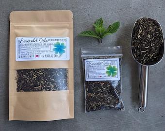 Irish Breakfast Tea with basil & mint | Emerald Isle Irish Breakfast tea| loose leaf tea | black tea blend