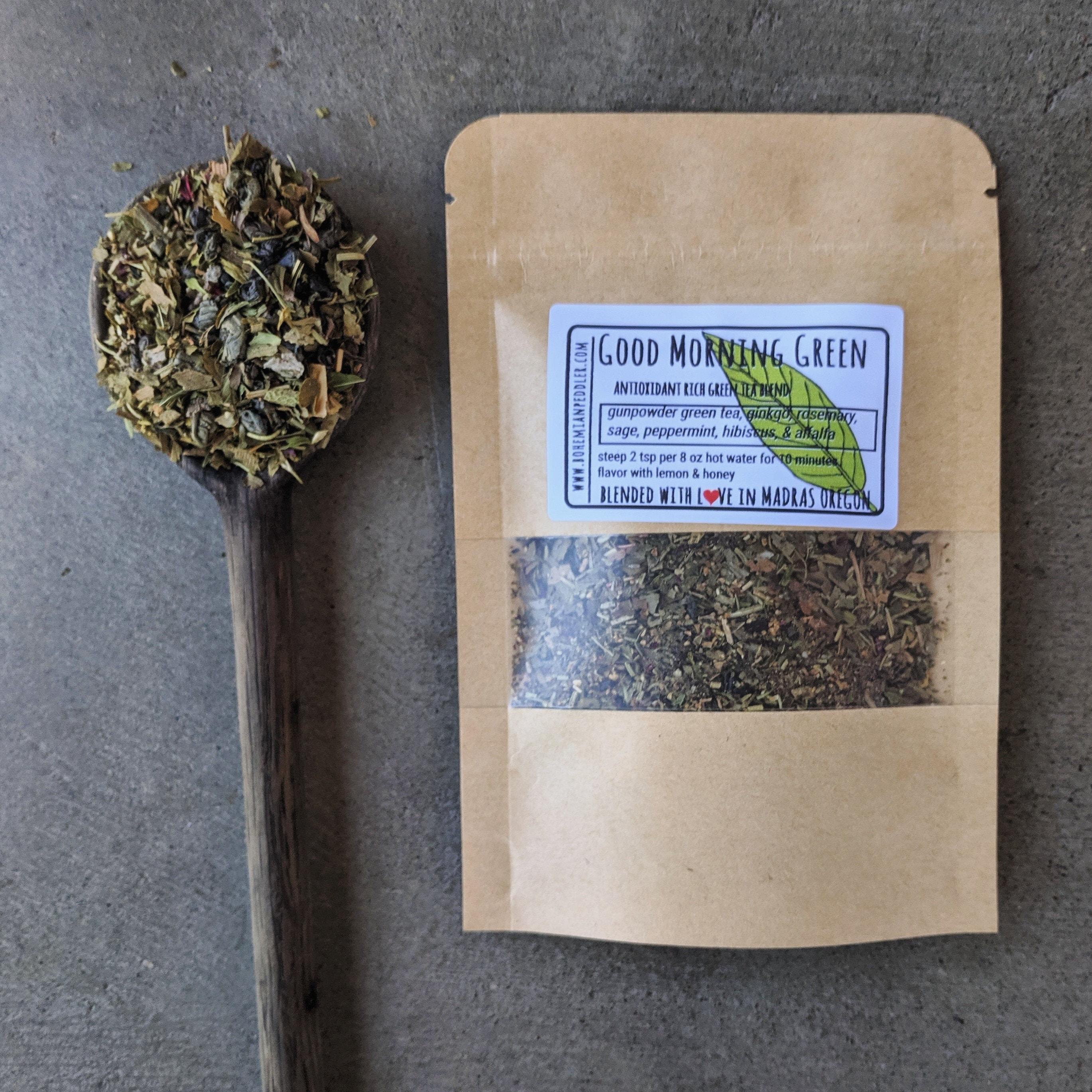 Good Morning Green Organic Green Tea Blend Focus Memory Etsy